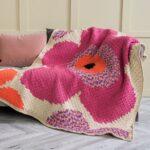 Köşeden Köşeye Çiçekli Battaniye Yapılışı 3