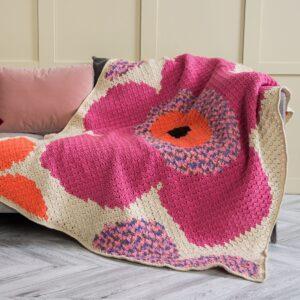 Köşeden Köşeye Çiçekli Battaniye Yapılışı