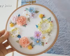 El Nakışı Çiçek Modelleri Yapılışı