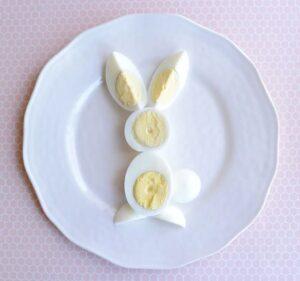 Haşlanmış Yumurtadan Tavşan ve Civciv Yapımı 1