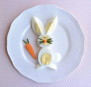 Haşlanmış Yumurtadan Tavşan ve Civciv Yapımı