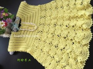 Örgü Bebek Elbise Modeli Yapımı 14