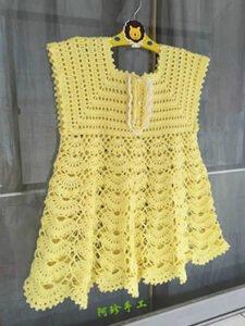 Örgü Bebek Elbise Modeli Yapımı 18