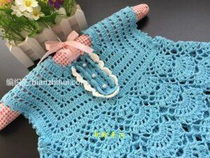 Örgü Bebek Elbise Modeli Yapımı 20