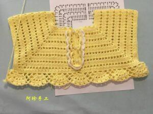 Örgü Bebek Elbise Modeli Yapımı 6