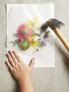 Canlı Çiçeklerden Çerçeve Yapımı 3