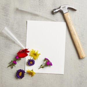 Canlı Çiçeklerden Çerçeve Yapımı 4