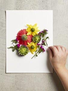 Canlı Çiçeklerden Çerçeve Yapımı 6