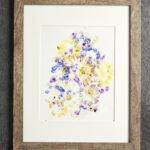 Canlı Çiçeklerden Çerçeve Yapımı 8