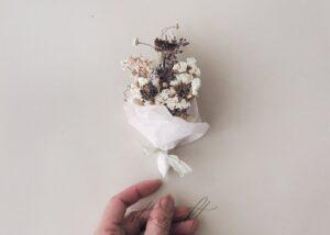 Kuru Çiçekten Mini Buket Yapımı 9