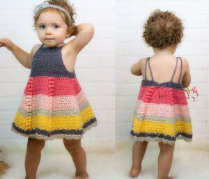 Tığ İşi Bebek Elbisesi Modelleri ve Yapılışları