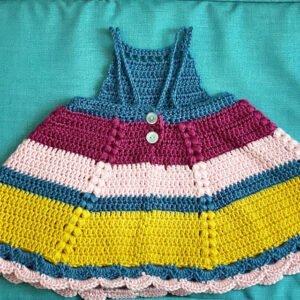 Tığ İşi Bebek Elbisesi Modelleri ve Yapılışları 3