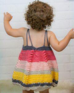 Tığ İşi Bebek Elbisesi Modelleri ve Yapılışları 4