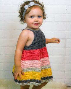 Tığ İşi Bebek Elbisesi Modelleri ve Yapılışları 5