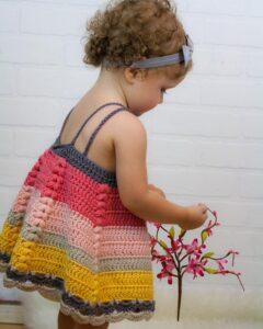Tığ İşi Bebek Elbisesi Modelleri ve Yapılışları 6