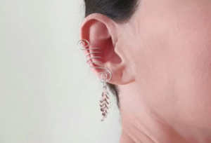 Kulak Arkası Küpe Yapılışı 2