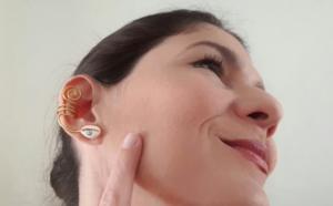 Kulak Arkası Küpe Yapılışı 4