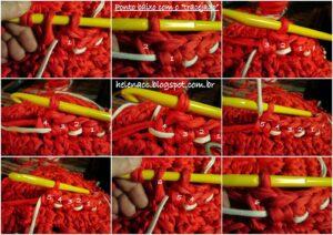 Penye İple Tabanlıklı Sepet Yapılışı 3