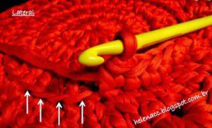 Penye İple Tabanlıklı Sepet Yapılışı 4