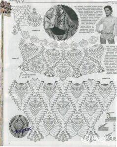 Tığ İşi Dantel Bluz Yapılışı 14