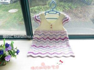 Bebek Örgü Elbise Modelleri ve Yapılışları 15