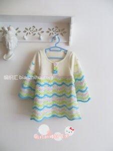 Bebek Örgü Elbise Modelleri ve Yapılışları 19