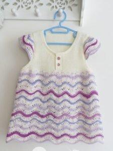 Bebek Örgü Elbise Modelleri ve Yapılışları 31