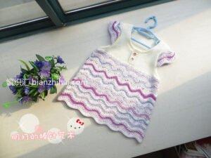 Bebek Örgü Elbise Modelleri ve Yapılışları 3