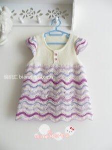 Bebek Örgü Elbise Modelleri ve Yapılışları 7