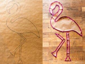Dekoratif Flamingo Yastık Yapımı 2